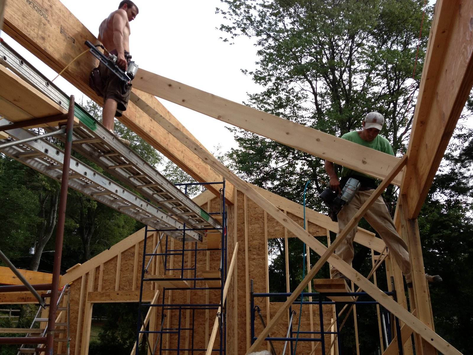 Pretty good lake house ridge beam and rafters for Rafter beam
