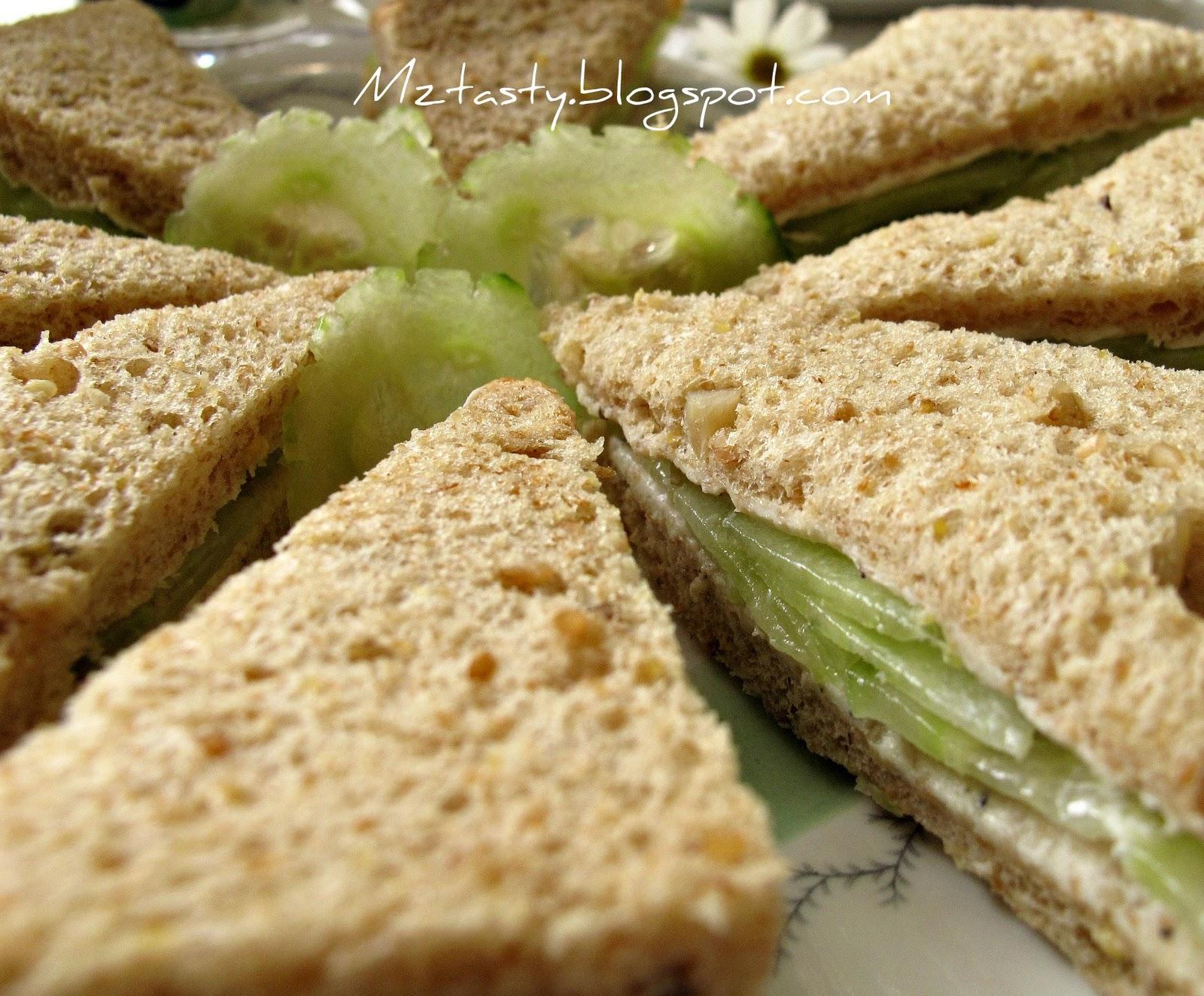 MzTasty's Kitchen, Savor The Flavor: Cucumber Tea Sandwich
