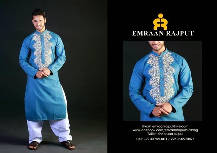 Emraan Rajpoot Formals Embroidered Kurta's For Men 2014