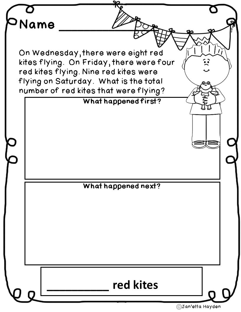 Worksheet 612792 Addition and Subtraction Word Problems – Keywords in Math Word Problems Worksheet