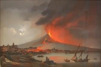Vesuvio in eruzione - Settecento