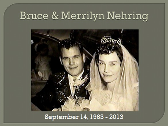 Bruce and Merrilyn Nehring, 50th Anniversary
