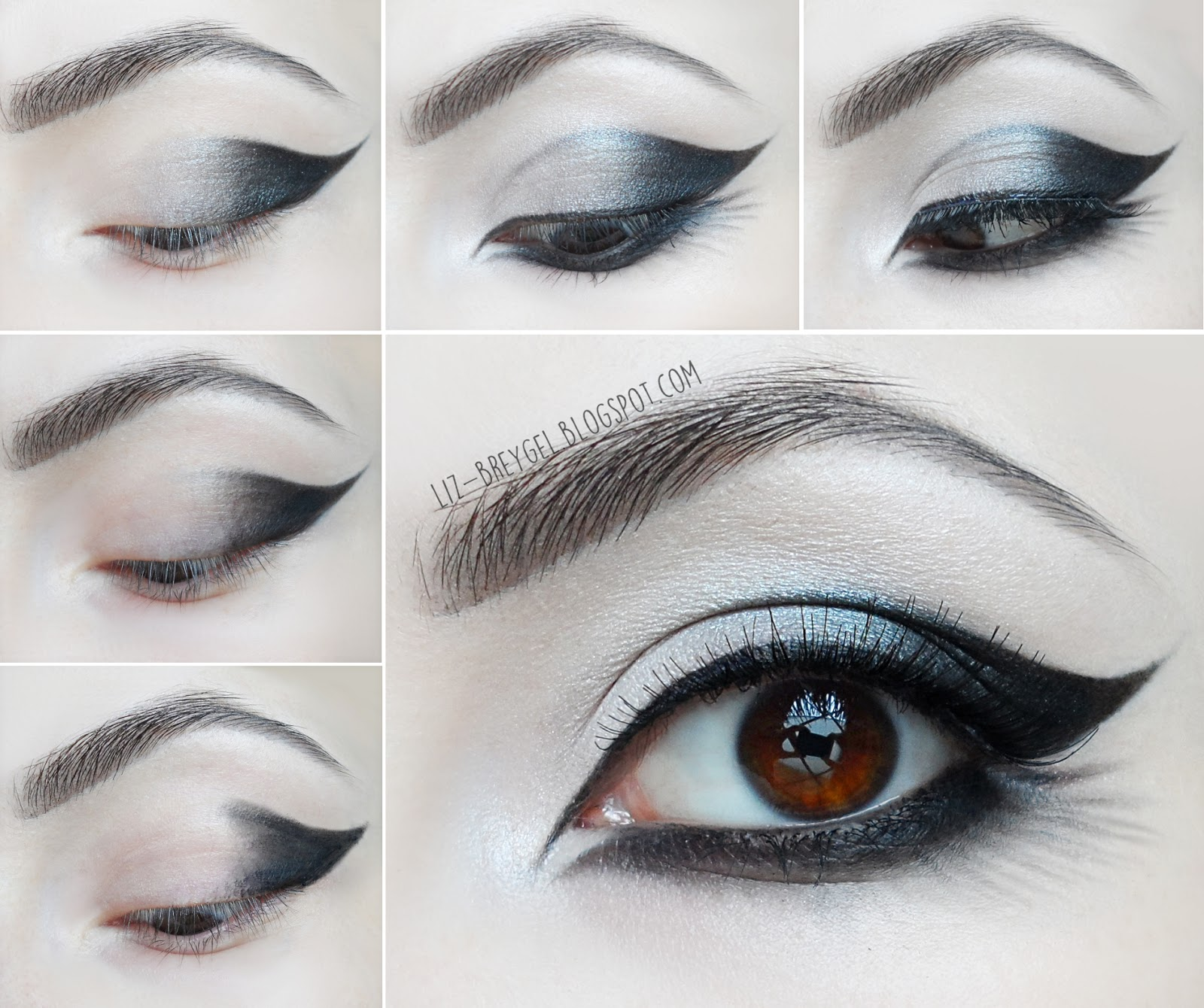 Goth Eye Makeup step by step Tutorial gothic smoky eye pictures dark ...