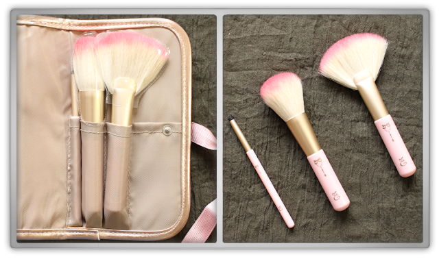 YesStyle Order Beauty Haul Review korean Etude House princess entoinette brush collection pouch pink rose gold