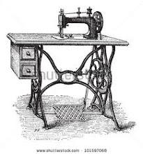 Máquina de costura antiga...