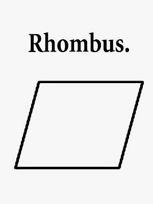 Rhombus print out geometry contours undemanding pictures school class coloring work sheet with words