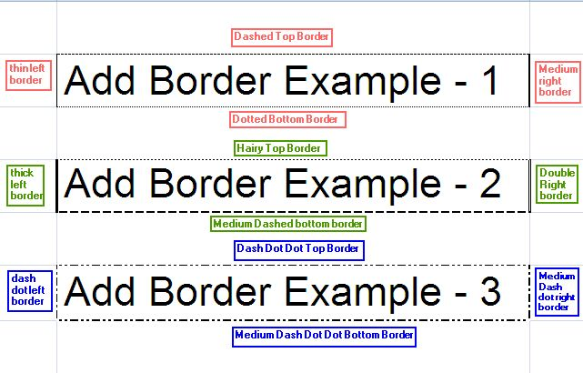 Add Border to Excel Cell - Java POI Example Program | ThinkTibits!