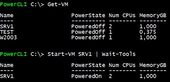 Inicio de una VM con Wait-Tools