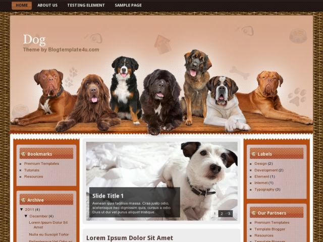 2014 free download template dog blogger