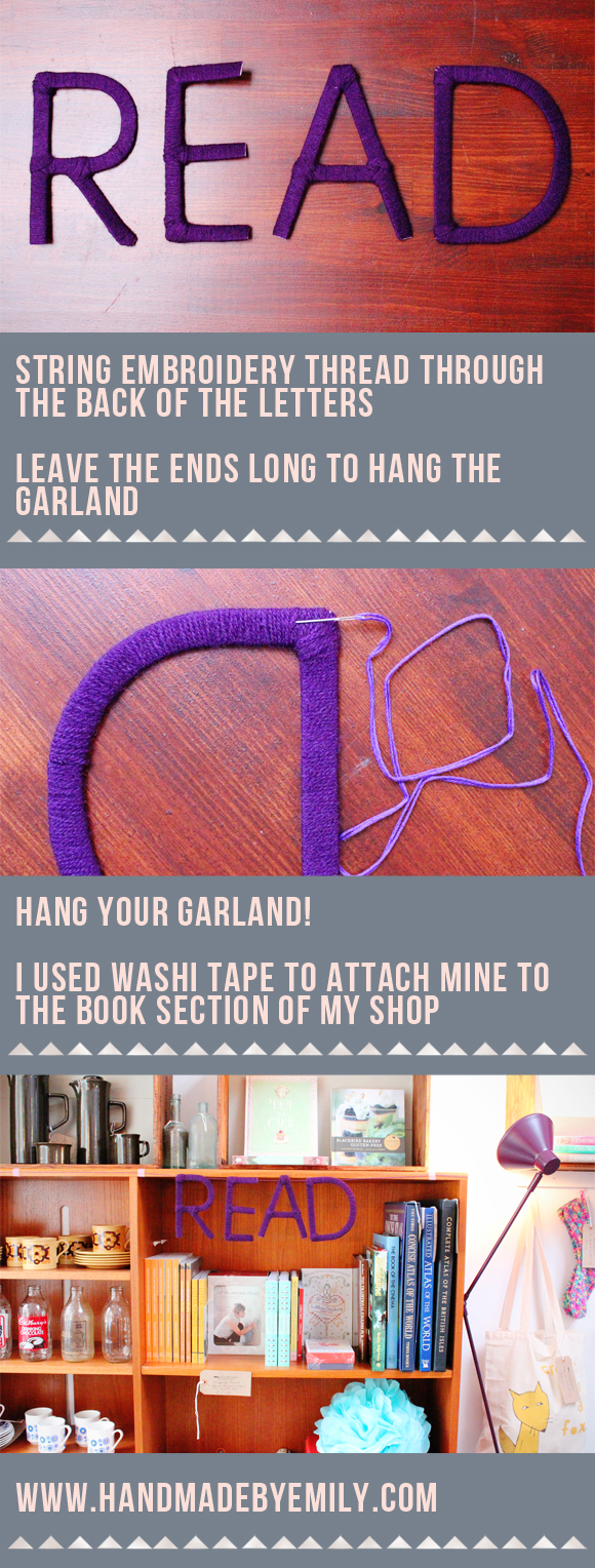 yarn garland tutorial