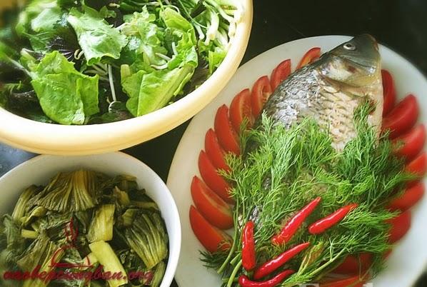 Món Cá chép Om dưa thơm ngon dễ làm 1