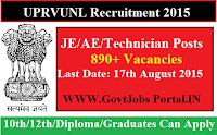 UPRVUNL Recruitment 2015
