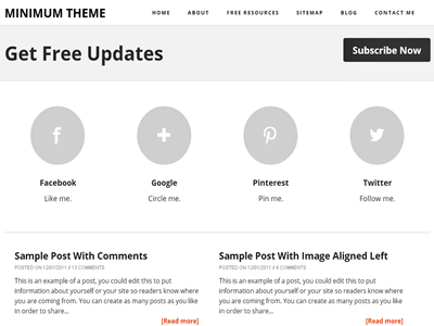 Minimum A Responsive Blogger Template