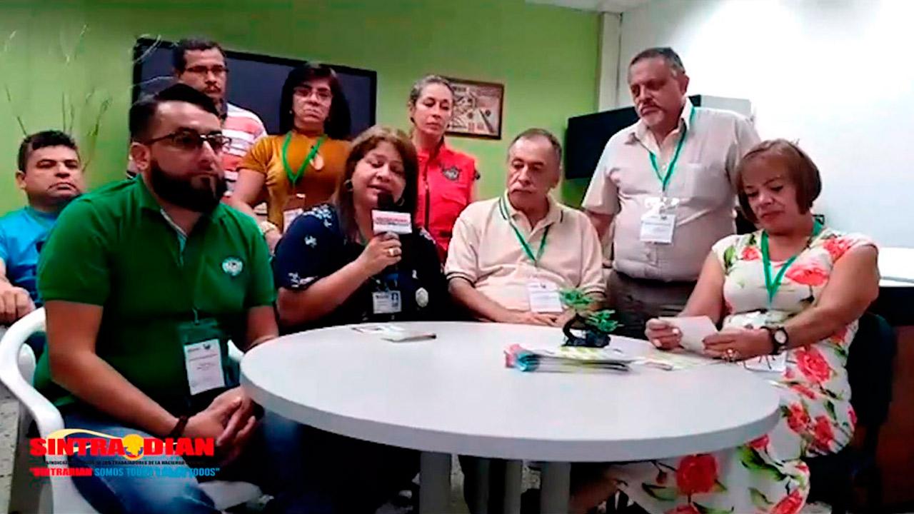 Trabajo sindical SINTRADIAN capítulo Medellín