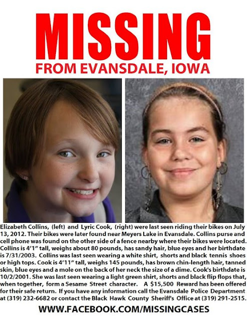 Iowa, Missing Girls,