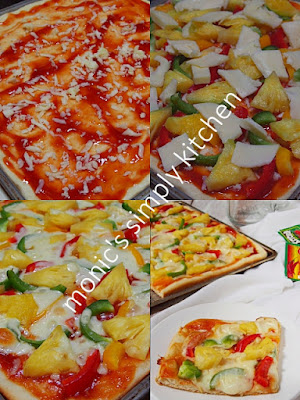 cara buat pizza vegetarian