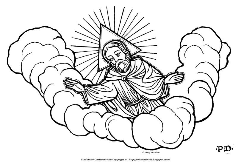 God the father trinity halo color the bible for God is our father coloring pages