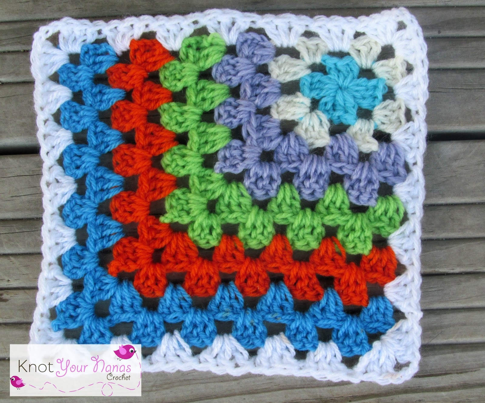 Crochet Granny Square : Knot Your Nanas Crochet: Granny Square CAL (Week 7)