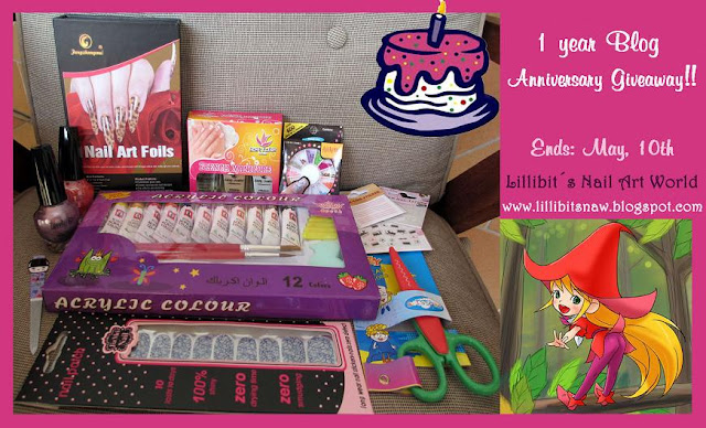 "Sorteo en ""Lillibit's Nail Art World"""