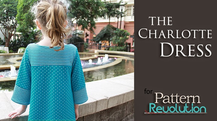 The Charlotte Dress sewing pattern reviewed for Pattern Revolution by The Inspired Wren