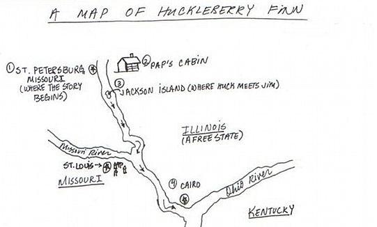 Cairo Huck Finn Map