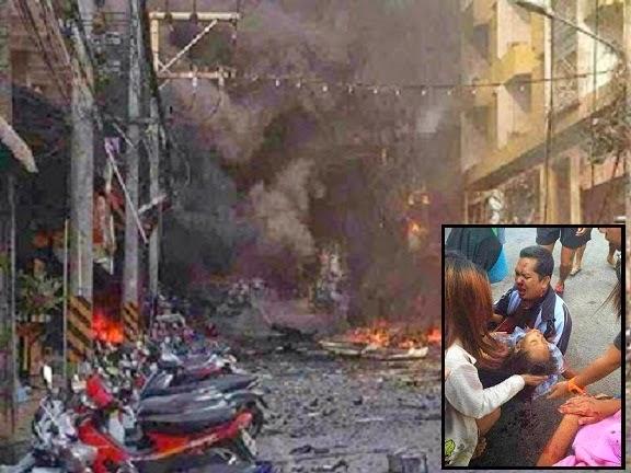3 Gambar letupan ngeri bom kereta di Betong