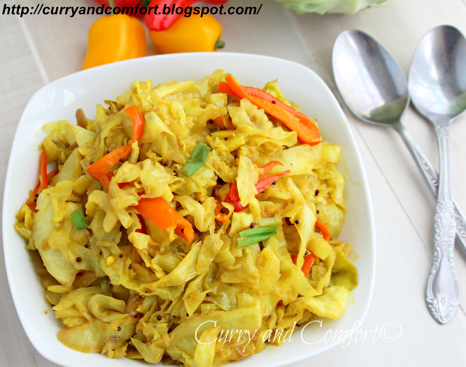 Kitchen Simmer: Sweet and Sour Cabbage Curry Stir Fry ...