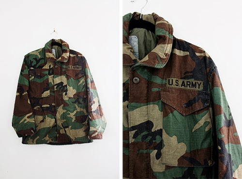 vintage us army jacket at the Cut and Chic Vintage Shop