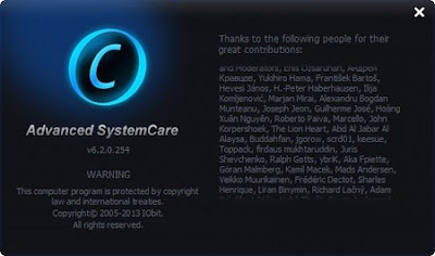 Advanced SystemCare Pro 6.2.0.254 Final Screenshots