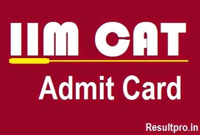 CAT 2014 Admit card