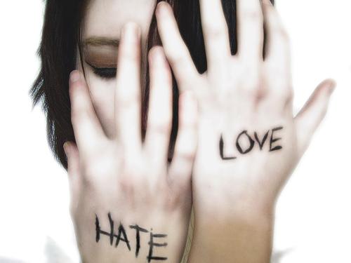 amor y odio. Del amor al odio