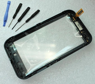 New Touch Screen Digitizer Glass With Frame Replacement for Motorola Defy MB525