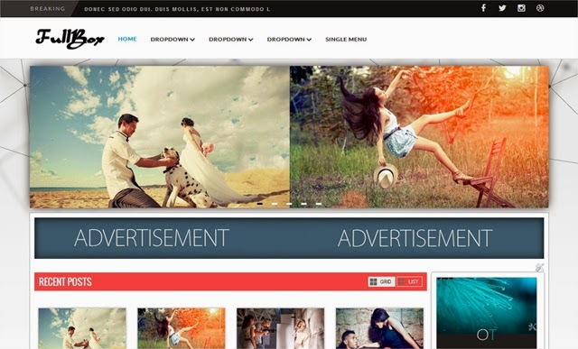 Chia sẻ 4 Template Blogspot FullBox Responsive