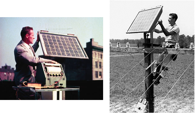 first modern solar cell The first practical solar cell bell executives presented the bell solar battery to the press on april 25, 1954 just five years later the beginning of the silicon revolution spawned the world's first practical solar cell and its promise for an enduring solar age.