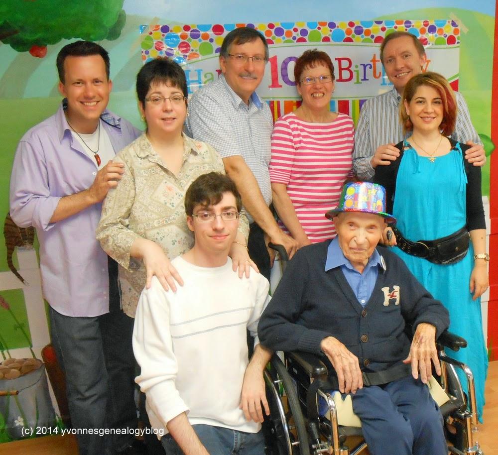 William Demoskoff on his 100th birthday