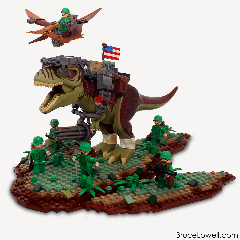 The brickverse america 39 s fighting dinosaur in lego - Lego dinosaures ...