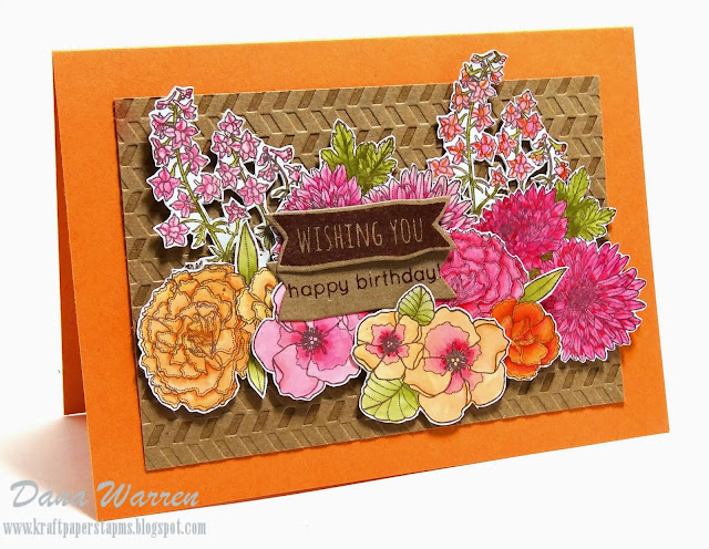 Designed by Dana Warren - Kraft Paper Stamps