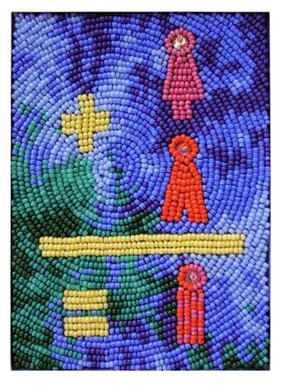 Robin Atkins, bead embroidery, save the world