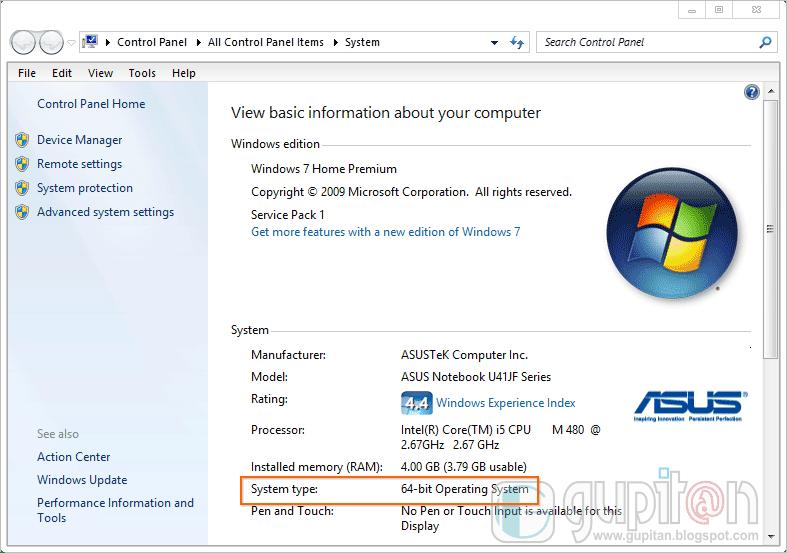 4 Cara Mengetahui Versi Bit Sistem Operasi Windows 2
