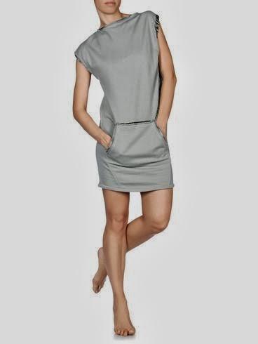 gümüş renkli cepli elbise