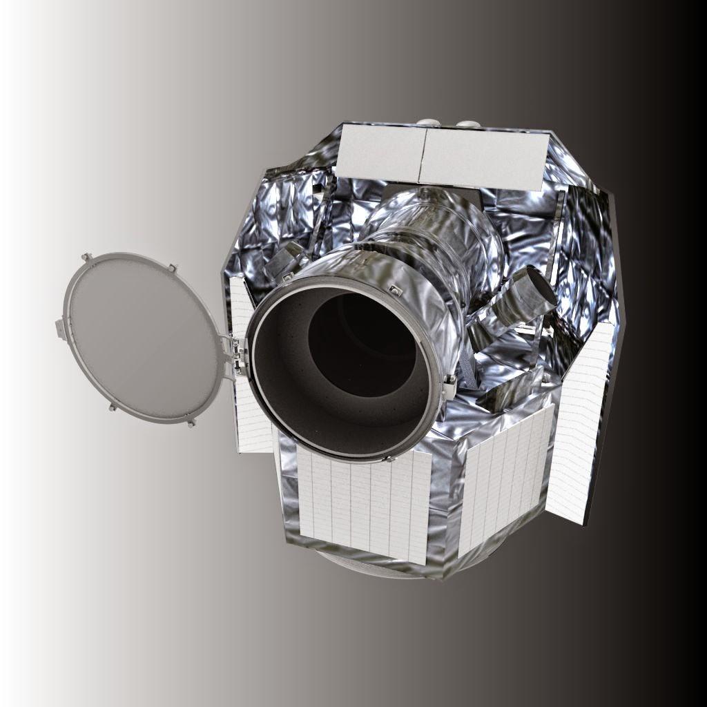 Artist's rendering of ESA CHEOPS satellite. Credit: ESA - C. Carreau
