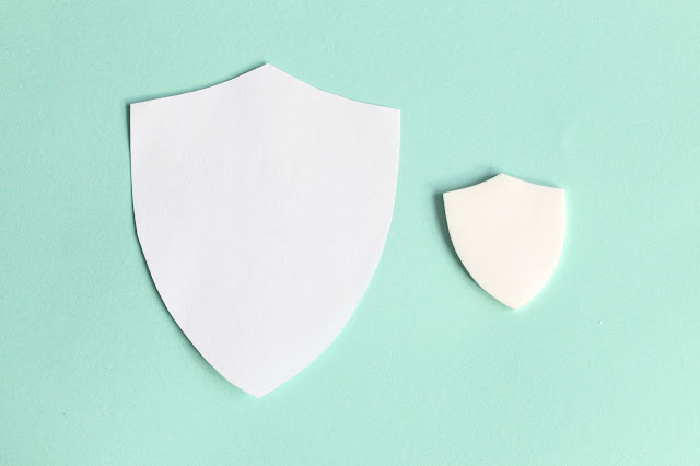 DIY shield brooch