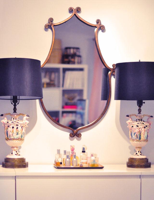 Vintage Italian Lamps, Wall Mirror, Vanity