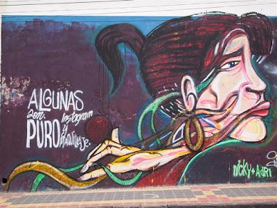 Arte callejero en Otavalo (Ecuador)