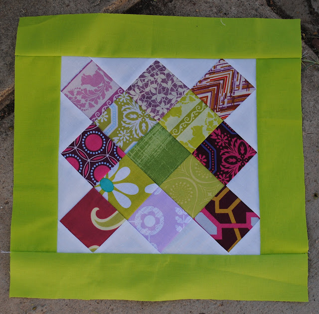 newbee quilters granny block sample