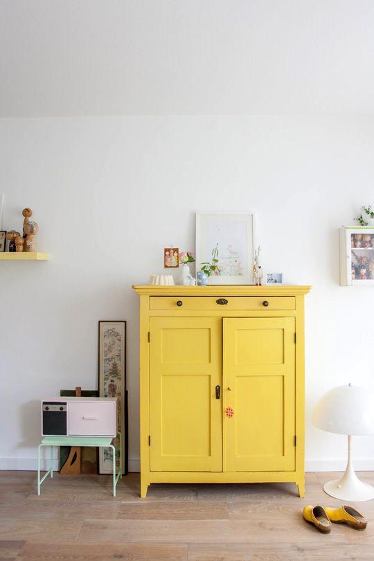 Keuken Geel Verven : weer mooi maken door hem zelf te schilderen, bijvoorbeel in het geel