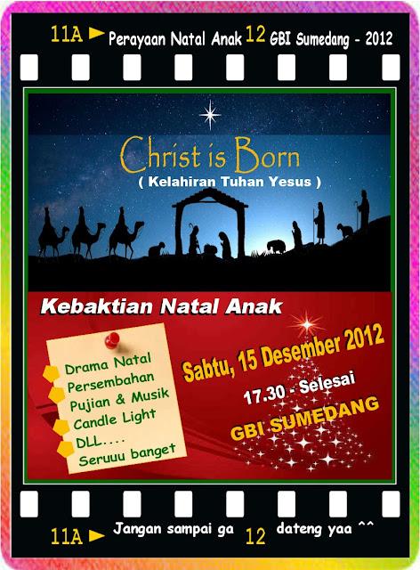 Contoh Poster Acara Natal Anak 2012 : GBI Sumedang