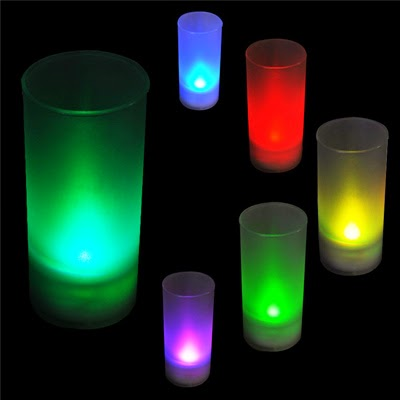 SAMMYdress: Flicking LED 7 Color Change Flameless Lights Candle