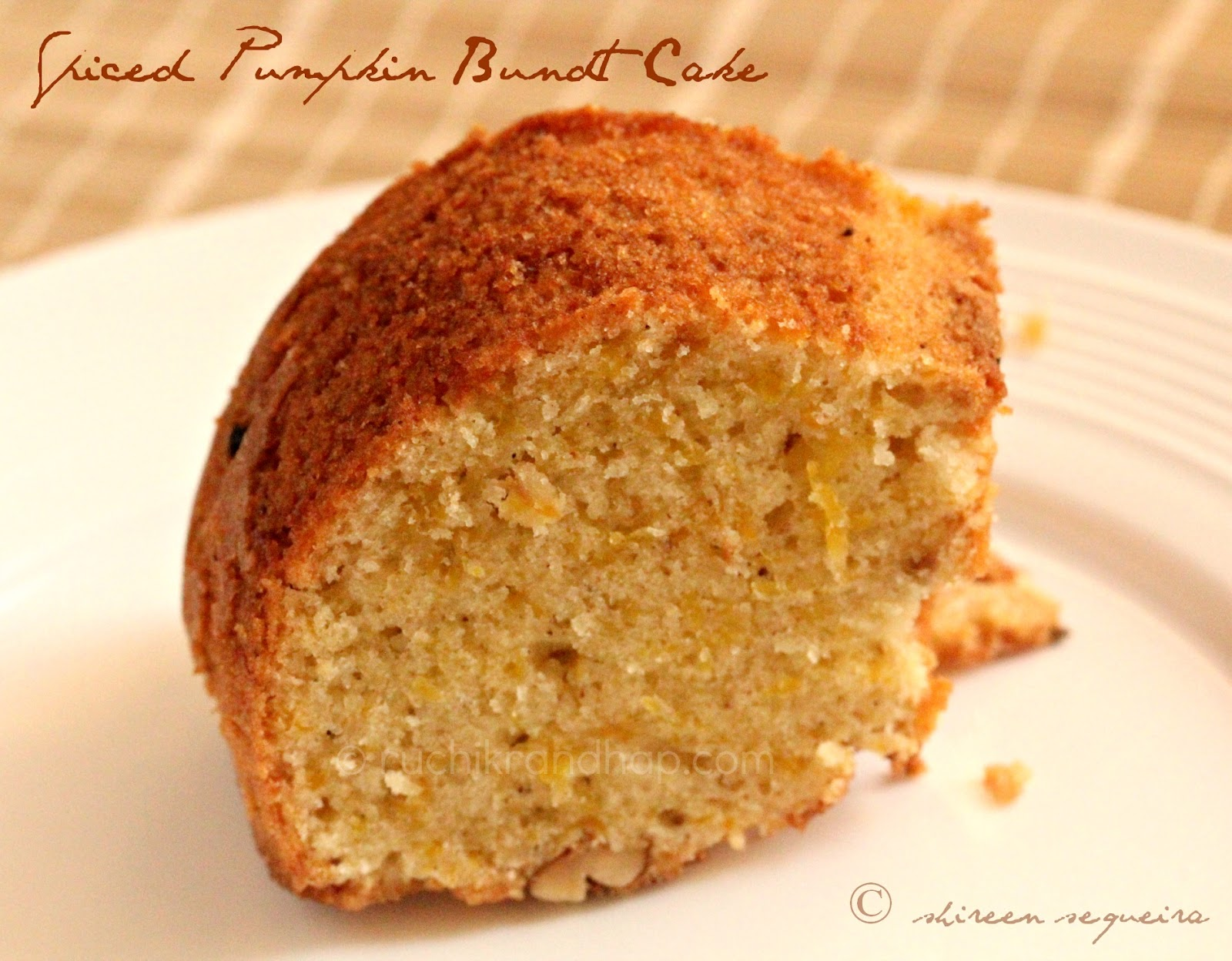 Ruchik Randhap (Delicious Cooking): Spiced Pumpkin Bundt Cake
