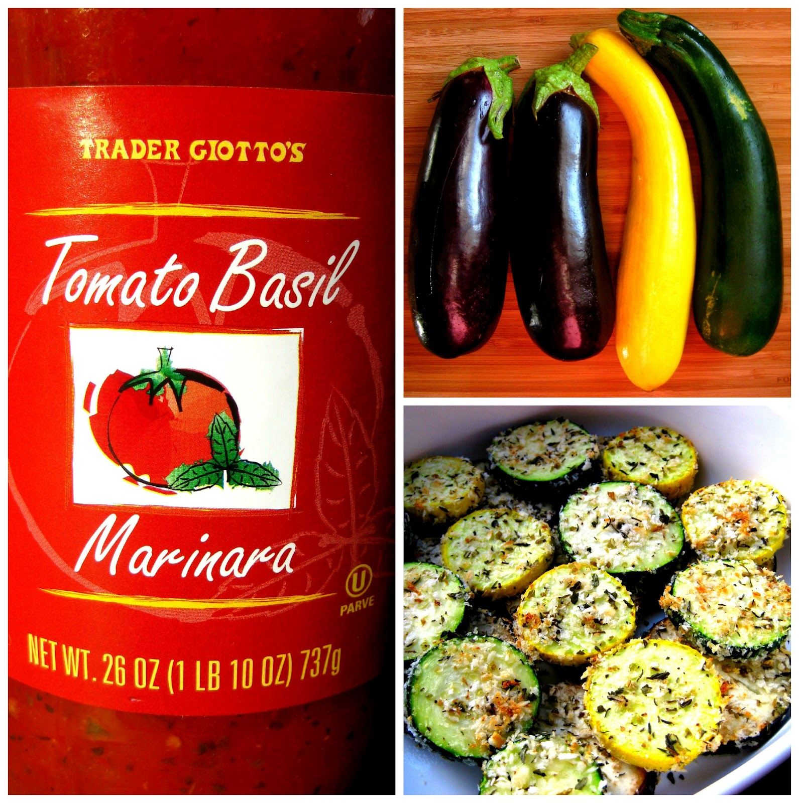 Karis' Kitchen | A Vegetarian Food Blog: Baked Zucchini Parmesan